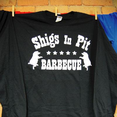 Shigs In Pit logo longsleeve - black