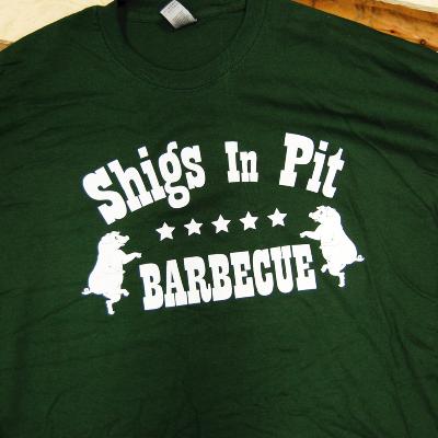 Shigs In Pit logo longsleeve - forest green