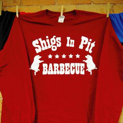Shigs In Pit logo longsleeve - red