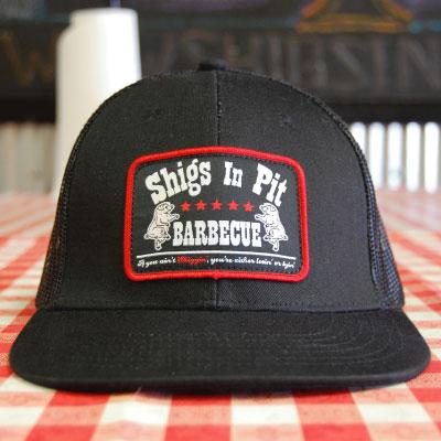 Shigs In Pit trucker cap - front