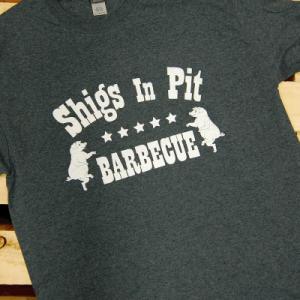 Shigs In Pit logo t-shirt - dark grey