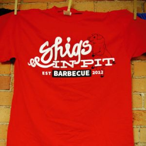 Shigs In Pit script shirt front