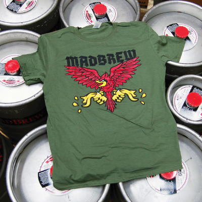 MadBrew Cardinal t-shirt - front