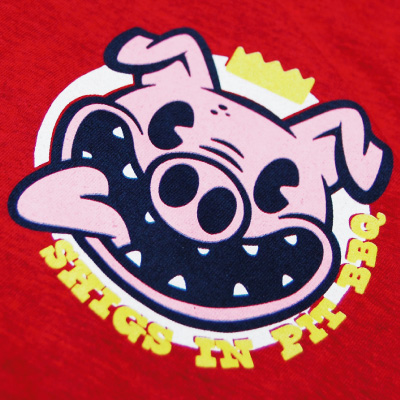 Shigs In Pit Pig shirt front detail